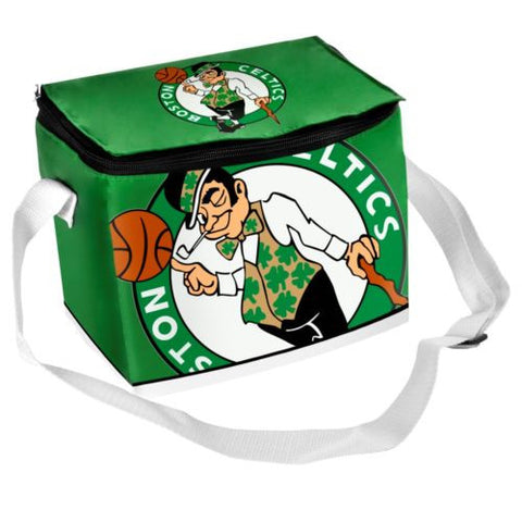 Boston Celtics Lunch Bag  - Big Logo Zipper  6 Pack Cooler