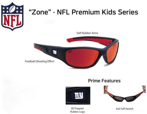 "Washington Redskins Sunglasses - Premium Kids Sunglasses ""Zone"""
