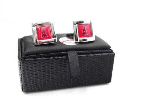 Los Angeles Angels of Anaheim Cuff Links - Wedding grooms gift set - Square