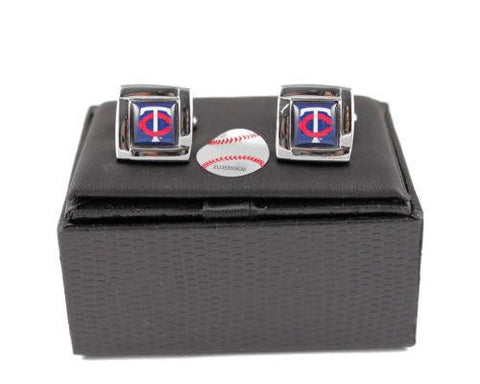 Minnesota Twins Cuff Links - Wedding grooms gift set - Square