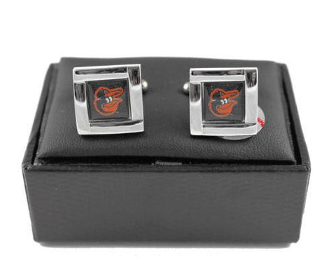 Baltimore Orioles Cuff Links - Wedding grooms gift set - Square