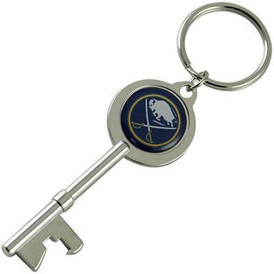 Buffalo Sabres Keychain - Skeleton Key Bottle Opener Keychain