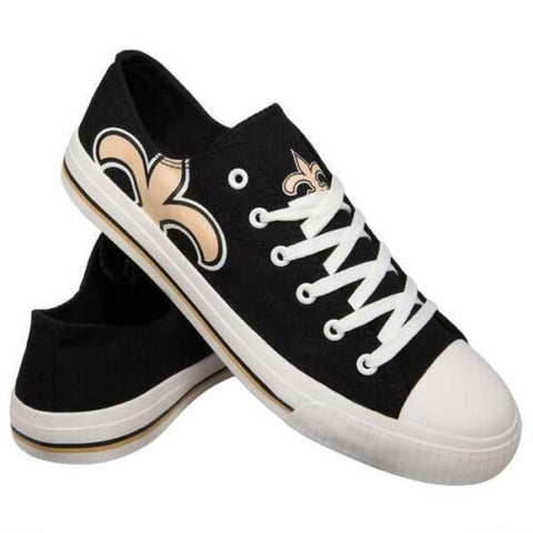 New Orleans Saints Shoes - Men's Low Top Canvas Logo Shoe