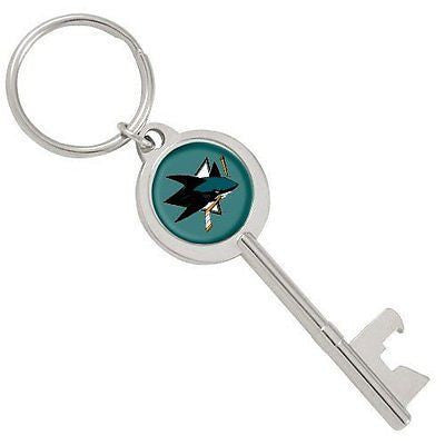 San Jose Sharks Skeleton Key Bottle Opener Keychain