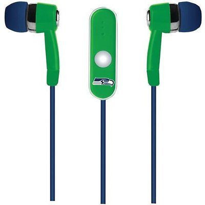 Seattle Seahawks Ear Buds With Microphone