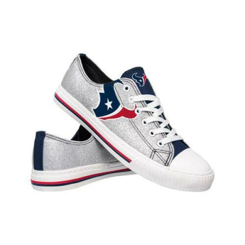 Houston Texans Shoes - Womens Glitter Low Top Canvas Shoe