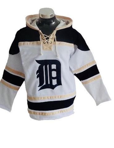 Detroit Tigers Lacer -  Blank White and Cream Pullover