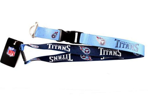Tennessee Titans reversible lanyard - keychain badge holder