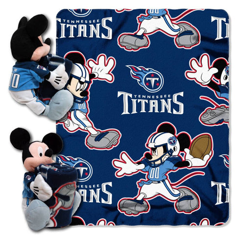 Tennessee Titans Blanket - Mickey Hugger and Fleece Throw Set