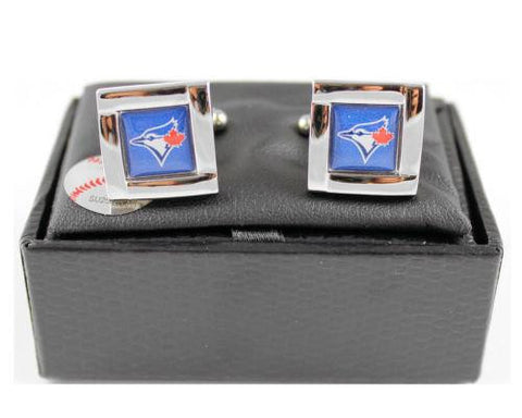 Toronto Blue Jays Cuff Links - Wedding grooms gift set - Square
