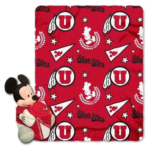 Utah Utes Blanket - Mickey Hugger and Fleece Throw Set