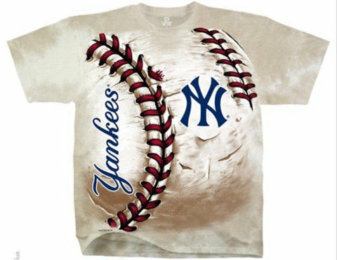 New York Yankees Shirt - Tie Dye Hard Ball T-Shirt