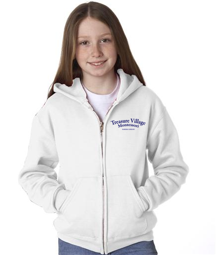 TVM Logo'd Zippered Hoodie Youth