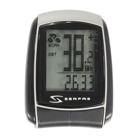 Serfas Level 1 9-Function Wired Cycling Computer - Si-10