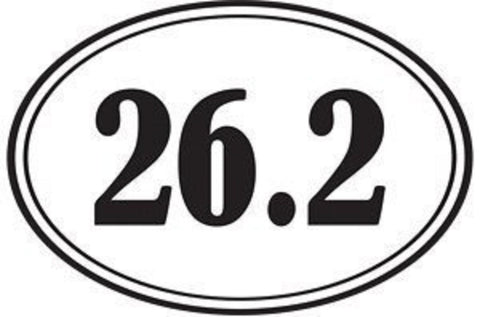 1Line Sports 26.2 Marathon Distance Oval Sticker (Set of 4)
