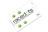 RaceDots: Magnetic Race Number Positioning System 4-Pack