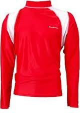 Finis Adult Long-Sleeved Sun Shirt - Red/White