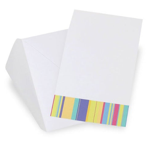 Bright Stripes Social Invitation, 10 Count