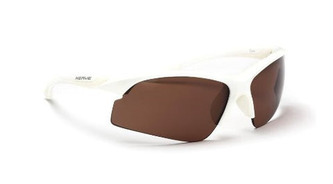 Optic Nerve Crux Sunglasses, Shiny White, Polarized Copper Lens