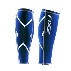 2XU Unisex Non-Stirrup Calf Guard, Royal Blue/Royal Blue