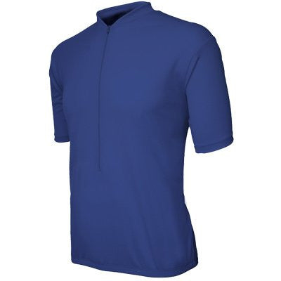Basik Men's Classic Short Sleeved Cycling Jersey, Blue