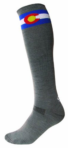 SOS Colorado Ski Steep Socks - Granite
