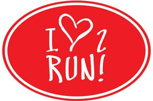 1Line Love 2 Run Magnet RED
