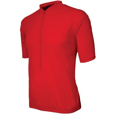 Basik Men's Classic Short Sleeved Cycling Jersey, Red