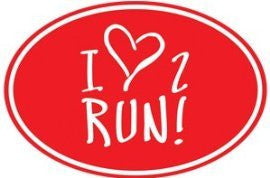 1Line Sports I Love 2 Run Sticker (Set of 4)