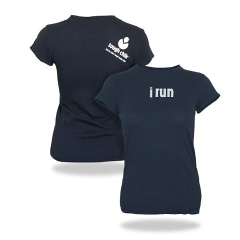 "Tough Chik Women's ""i run"" T-Shirt"