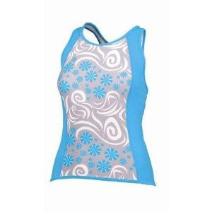SheBeest Kona Tri Top, White/Blue, X-Small