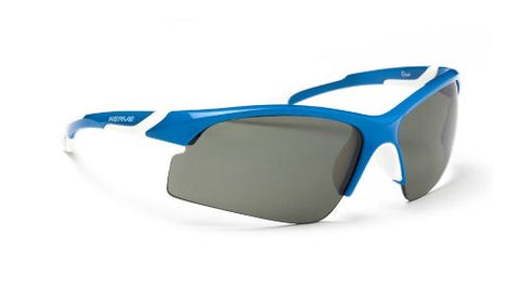 Optic Nerve Crux Sunglasses, Shiny Blue, Polarized Smoke Lens
