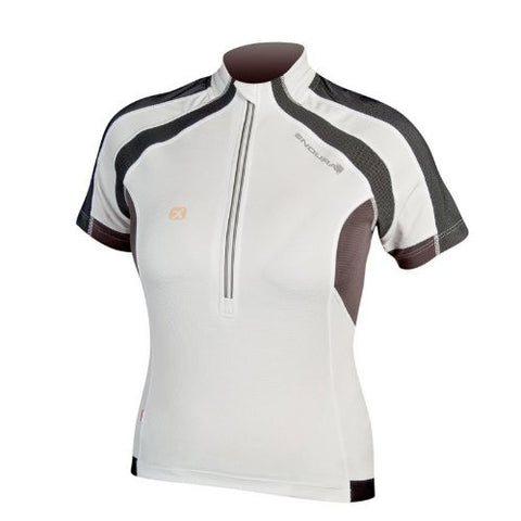 Endura Women's Hummvee Short-Sleeve Cycling Jersey - White, Small