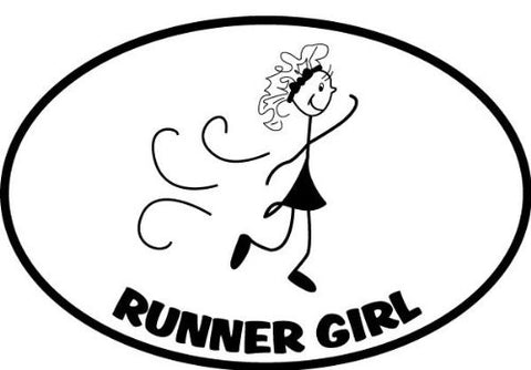 Runner Girl Sticker - Black (Set of 4)