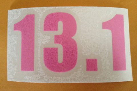 13.1 WINDOW CLING (Pink Numbers)