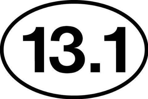 13.1 Half Marathon Sticker (set of 4)