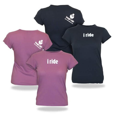 "Tough Chik ""i ride"" - Cap Sleeve Tee Shirt"