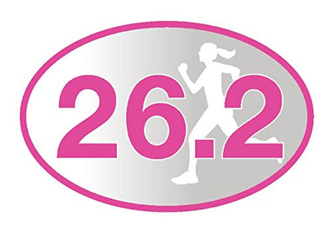 26.2 Pink Runner Girl Sticker (Set of 4)