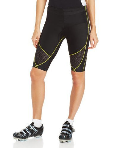 CW-X Conditioning Wear Women's Ventilator Tri-Shorts, Black/Yellow Stitch