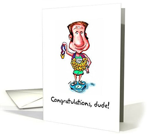 Far Gone Greetings Congratulations Dude : Athlete With Medals card