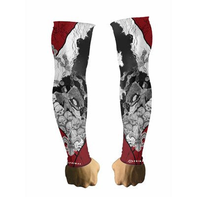 Primal Wear Tattoo Red/Grey Arm Warmers