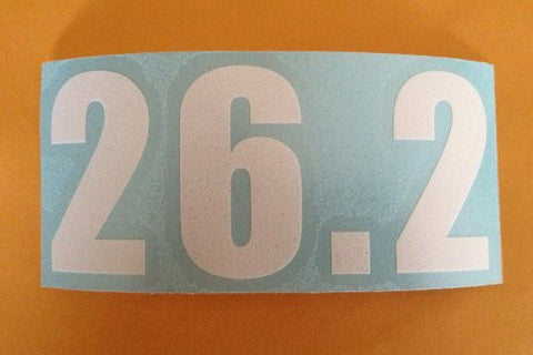 26.2 WINDOW CLING (White Numbers) (Set of 4)