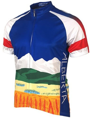 Adrenaline Promotions Canadian Provinces Alberta Cycling Jersey