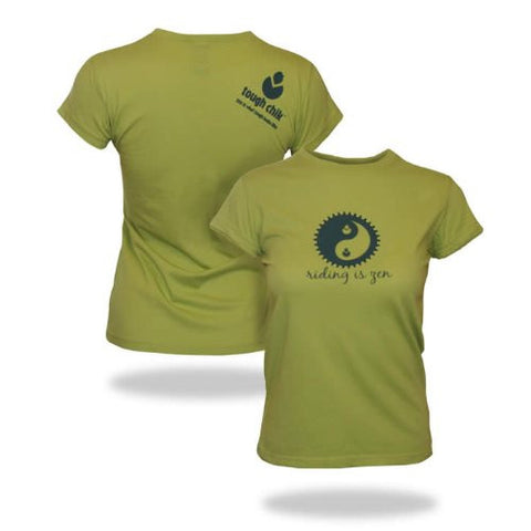 Tough Chik Riding is Zen - Cap Sleeve Tee Shirt