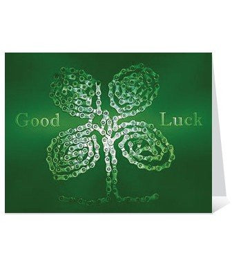 Skeese Greets Lucky Charm Greeting Card (Blank Inside) - Green
