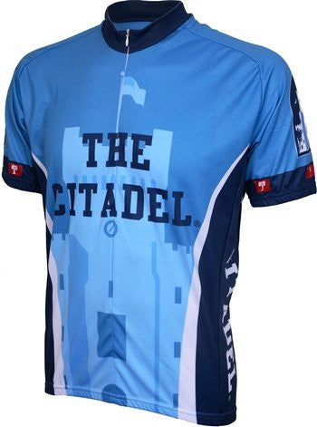 NCAA Men's Adrenaline Promotions Citadel Bulldogs Road Cycling Jersey
