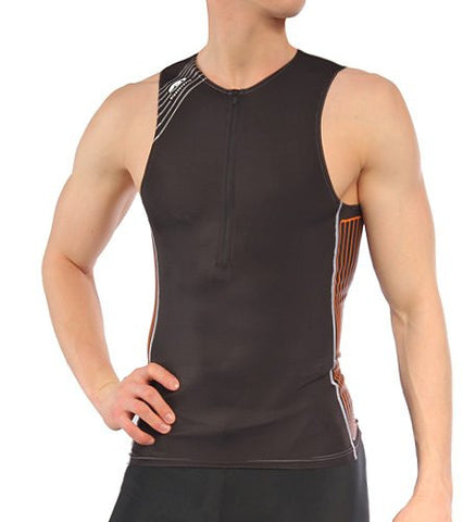 Blueseventy Men's TX2000 Singlet Tri Top - Black/Orange