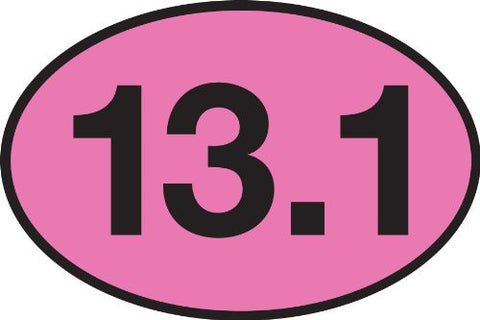 13.1 PINK Oval Sticker (Set of 4)
