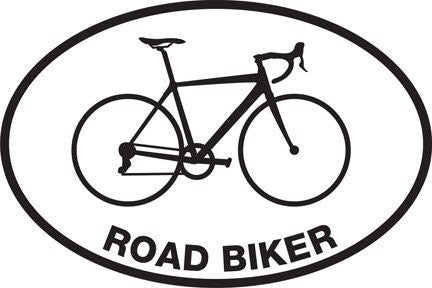 Road Biker Sticker (Set of 4)