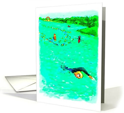 Far Gone Greetings Swimming Off Course : Funny Birthday Card